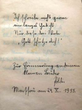 Stammbuch MS 1935